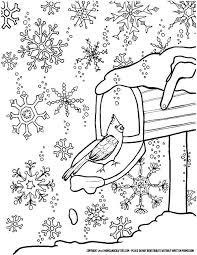 Small Picture Winter Snowflake Coloring Page for Grown ups a free printable