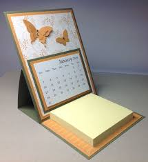 erfly easel calendar with post it note pad by jennicraftycreations on s