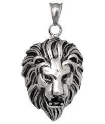 pendant for men boys silver stainless steel lion face singham stylish by bebold at low in india snapdeal