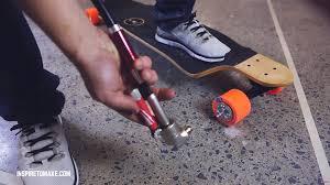 homemade electric skateboard powered by flex shaft drill driver flexshaft2