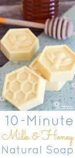 10-Minute Milk & Honey Natural Soap - This easy DIY Milk and Honey soap