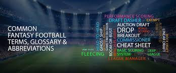 Fantasy Football Terms Abbreviations Demystifying The Lingo