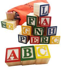 30 alphabet blocks with letters colors wooden toddler preschool kindergarten building toy