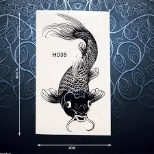одноразовая временная тату наклейка для карпа и рыбы для мужчин и женщин