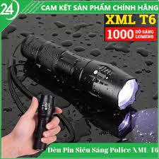 Đèn pin mini siêu sáng chiếu xa police xml t6 - đèn pin đa năng có 5 chế độ  chiếu xa trăm mét , chống nước tặng bộ sạc - BeeCost