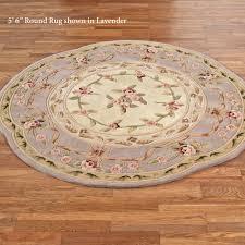 leila aubusson fl round rug