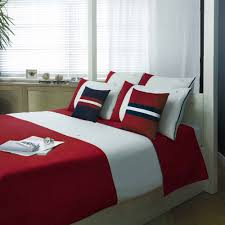 colour block bedding red by tommy hilfiger home at dotmaison
