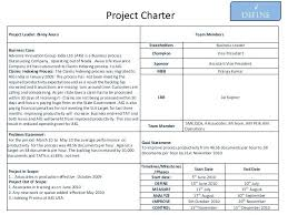 project charter sample six sigma charter template team charter example six sigma project