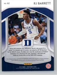Find out the latest on your favorite ncaab players on cbssports.com. 2019 20 Panini Prizm Draft All Americans 62 Rj Barrett Duke Blue Devils Basketball Card