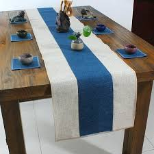 dining table runner latest plain patchwork table runner rectangle cotton linen modern simple coffee table cloth dining table runner