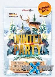 Free Winter Party Flyer Template Download