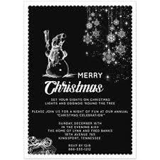 White Christmas Invitations Black And White Christmas Party Invitations Set Of 20 Ebay