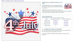 4th July Clipart Us Animation Powerpoint Jpg Fppt