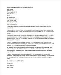 Financial Administrative Assistant Cover Letter Sample Bfcc