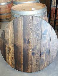 round table top for wine barrels