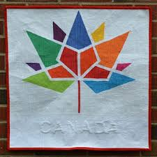 Quilt Inspiration: Free Pattern Day: Canadian Flag & Canada 150 years, free paper piecing pattern by Dana Szucs Hayden based on  the Canada 150 year logo; the finished quilt below is by Jen Johnston 80 at  ... Adamdwight.com