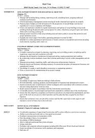 Site Superintendent Resume Samples Velvet Jobs