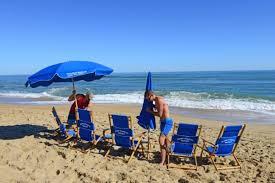 beach umbrella and chair.  Beach Ocean Atlantic Rentals Umbrella And Beach Chair Rentals In And
