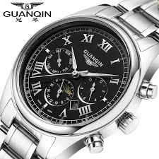 relogio masculino guanqin watches men luxury brand mechanical relogio masculino guanqin watches men luxury brand mechanical watch clock full steel watch reloj men casual business wristwatch