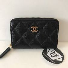 chanel zip coin purse. new chanel zip around coin purse black caviar gold hardware card holder wallet