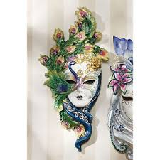 Decorative Venetian Wall Masks Venetian Italian Decorative Wall Sculpture Art Peacock Masquerade 28