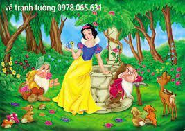 vẽ tranh tường công chúa cổ tích cho bé | Hoạ sĩ Vẽ tranh tường, tranh sơn  dầu, tranh cưới, tranh nghệ thuật.