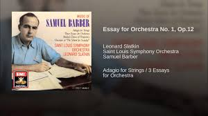 essay for orchestra no op  essay for orchestra no 1 op 12