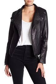 image of sam edelman zip off collar genuine leather moto jacket