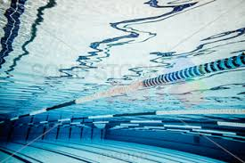 stock photo of underwater low angle shot of swimming pool horizontal orientation