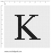 Free Filet Crochet Charts And Patterns Letter K Filet