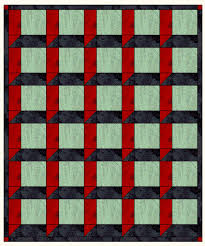 Attic Windows Quilt Top Layouts - the easy way to make it & Above and Below are layouts without sashing. The 3-D effect is more  apparent with the highly contrasting color choices in the quilt above. Adamdwight.com