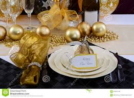 Setting A Dinner Table New Years Eve Dinner Table Setting Stock Photo Image 64054145
