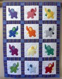 725 best baby & toddler quilts images on Pinterest | DIY, Baby ... & Elephant Treasures handmade quilt Adamdwight.com