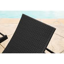 Abbyson Palermo Outdoor Black Wicker Chaise Lounge Set of 2 - Free Shipping  Today - Overstock.com - 16942769