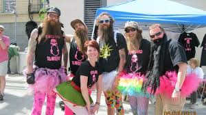 Pink Ink Portland Beardsmen T-shirt for Dad's Day by Miranda Keenan