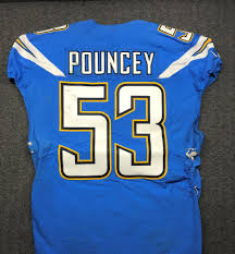Jersey Game Auction Pouncey 18 21 Mike Chargers California 10 Relief - Wildfire Nfl Worn
