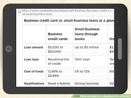 Applying For Business Credit How To Apply For A Business Line Of Credit 11 Steps