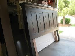 Five Panel Door Headboard 5 Panel Old Door Headboard Painted Satin Onyx Black By Vin Flickr