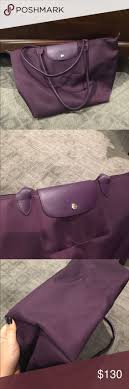 longch purple le pliage neo large tote