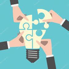 Four hands building idea — Stock Vector © Dmitry_Guzhanin #100255892