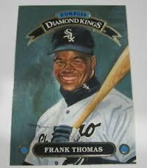 Rookie cards, autographs and more. 1991 Donruss Diamond Kings Dk 8 Frank Thomas Chicago White Sox Baseball Card Ebay