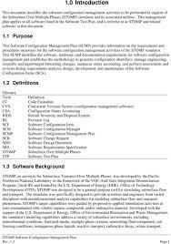Software Design Document Sample Doc Stomp Software Configuration Ment Plan Rev Pdf Document Doc