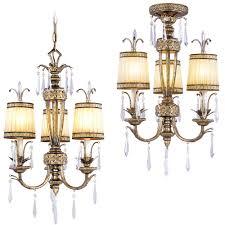 livex 8803 65 la bella hand painted vintage gold leaf mini ceiling chandelier flush loading zoom