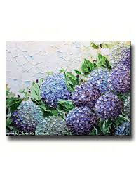giclee print art abstract painting hydrangea flowers impasto lavender purple canvas prints on canvas wall art purple flowers with giclee print art abstract painting hydrangea flowers impasto