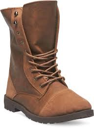 wet seal faux leather suede combat boots