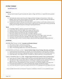 9 Seamstress Resume Prefix Chart