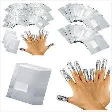 100Pcs/Lot Aluminium Foil <b>Nail Art</b> Soak Off Acrylic Gel Polish Nail ...