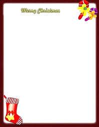 Printable Christmas Stationary Holiday Templates Free Letterhead