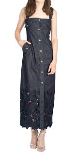 Alberta Ferretti Size Chart Alberta Ferretti Sleeveless Denim Dress Designer Dress