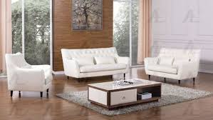 American Eagle AE346 IV 3pcs Modern Ivory Bonded Leather Sofa Set